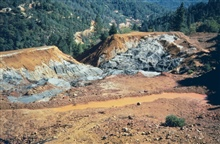 Sulfide deposits at Iron Mountain Mine.
