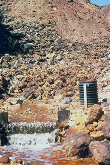 Acid stream mine drainage at iron Mountain Mine.