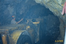 Mucking out the tunnel at Iron Mountain Mine