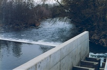 A vertical slotted weir at Coleman National Fish Hatchery. The hatchery onBattle Creek ladder opened March through July 1994.