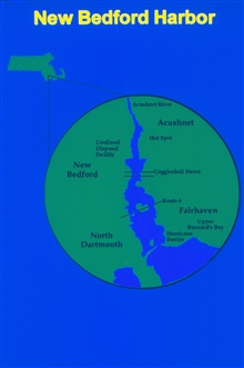 A map of New Bedford Harbor