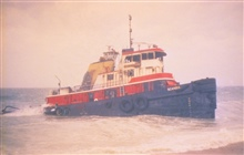 The tug, Scandia, grounded in a winter storm was pulling the North CapeThe barge carried approximately 828,000 gallons of home heating when tug andbarge grounded in Rhode Island waters.