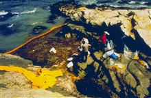 Spill clean-up procedures. Close to 300,000 gallons of oil were spilled inNarragansett Bay, RI waters.