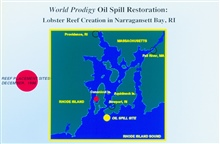 When the World Prodigy tanker grounded on June 23, 1989 over 290,000gallons of oil spread across more than 120 miles of Narragansett Bay and RhodeIsland Sound. To compensate for injuries, NOAA and the University of RhodeIsland Sea Grant Program teame