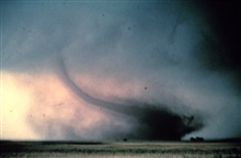 Rope or decay stage of tornado.During Sound Chase, a joint project of NSSL and Mississippi State University.