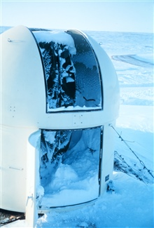 Station Number 001 -occupied 1/22/66 to 3/18/66Party chief Sherrill Snellgrove of C&GS;100 mph winds would drive snow into the camera dome in spite of dome cover andweather stripping being installed.  Winds of this nature would freeze exposedhuman fl