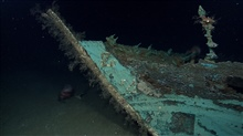 While most of the wood has disintegrated from what is believed to be an early to mid-19th Century wooden-hulled shipwreck, copper sheathing used as protectionagainst wood-boring marine organisms remains, leaving a copper shell retainingthe form of th