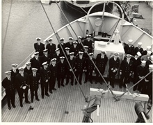 Officers and crew of PATHFINDER in Seattle.