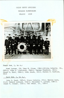 PATHFINDER chief petty officers 1958.
