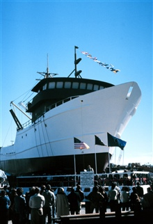 Launching ceremony for the NOAA Ship CHAPMAN.