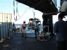 Recovering ROV on NANCY FOSTER