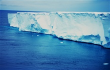 The seaward edge of the floating Ross Ice Shelf