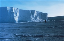 The Ross Ice Shelf at the Bay of Whales.  This is the southern-most navigablepoint on the planet and the point where Amundsen started his successful trek to the South Pole.  78 30 S Latitude 164 20W Longitude.