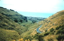 Looking down on Christchurch from the surrounding hills.