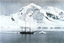 The BELGICA  anchored at Mount William. In:  Resultats du Voyage du S. Y.  BELGICA en 1897-1898-1899 .... RapportsScientifiques ... Travaux Hydrographiques et Instructions Nautiques by G.Lecointe, 1903.  P. 110.  Plate XI.
