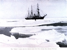 The Nimrod Pushing Her Way Through More Open Pack .... In:  The Heart of the Antarctic, Volume I, by E. H. Shackleton, 1909.  P. 65.Library Call Number G149 S52.