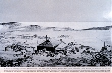 A View of the Hut Looking NorthwardsIn: The Heart of the Antarctic, Volume I, by E. H. Shackleton, 1909.  P.144.Library Call Number G149 S52.
