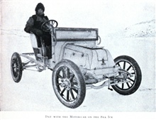 Day with the Motor-car on the Sea Ice.In: The Heart of the Antarctic, Volume I, by E. H. Shackleton, 1909.  P.164.Library Call Number G149 S52.