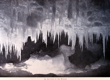 An Ice Cave in the Winter.In: The Heart of the Antarctic, Volume I, by E. H. Shackleton, 1909.  P.206.Library Call Number G149 S52.