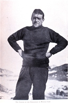 The Leader of the Expedition in Winter Garb.In: The Heart of the Antarctic, Volume I, by E. H. Shackleton, 1909.  P.234.Library Call Number G149 S52.