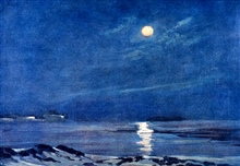 Full Moon in the Winter.In: The Heart of the Antarctic, Volume I, by E. H. Shackleton, 1909.  P.240.Library Call Number G149 S52.