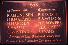 The Amundsen-Scott Memorial at South Pole Station