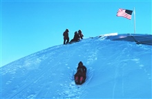 This is why the South Pole has a geodesic dome.  The sledding was great.