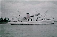 Coast and Geodetic Survey Ship MARMER.In service 1957-1968.Note white hull