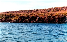 Red lava cliffs.