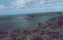 The view of Little Tobago Island from Speyside on the northeast coast
