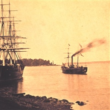 Coast and Geodetic Survey Ship ACTIVE as seen looking to the port quarter.This is the only known photograph of this vessel.