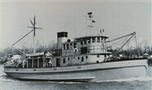 The Coast and Geodetic Survey Ship MARMER undergoing sea trials at Curtis Bay, Maryland.