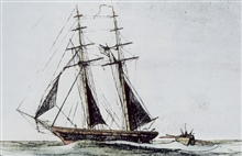 Coast Survey Schooner EXPERIMENT.In service 1835-1839.Sounding boat