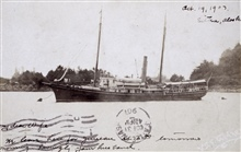 Coast and Geodetic Survey Ship THOMAS R. GEDNEY.In service 1875-1915.Postcard image