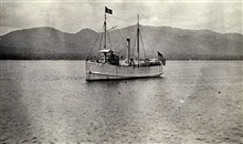 Coast and Geodetic Survey Steamer MCARTHUR I.In service 1876-1915.Exclusively Alaska service.Note white hull and house flag.
