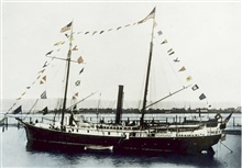 Coast and Geodetic Survey Steamer THOMAS R. GEDNEY.In service 1875-1915.Pacific service