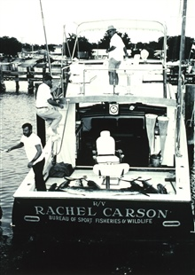 Bureau of Sport Fisheries and Wildlife Service Vessel RACHEL CARSON