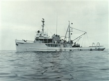 Bureau of Commercial Fisheries Vessel GERONIMO.  This vessel operated out ofGalveston.  In 1964 it was the first vessel to transmitoceanographic data via the communications satellite Syncom II to a shoreinstallation.